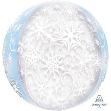 Balão Foil Orbz Frozen - Flocos de Neve