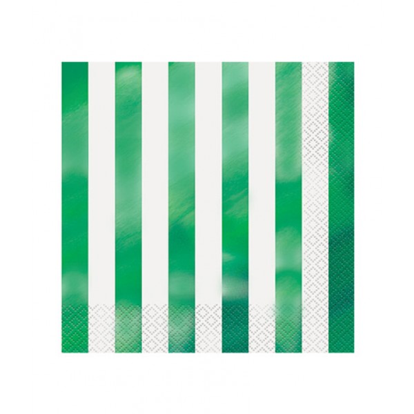 Guardanapos Riscas Verde Metalizado