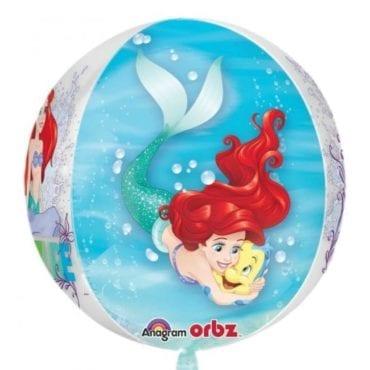Balão Foil Orbz Princesas Disney - Ariel (Pequena Sereia)