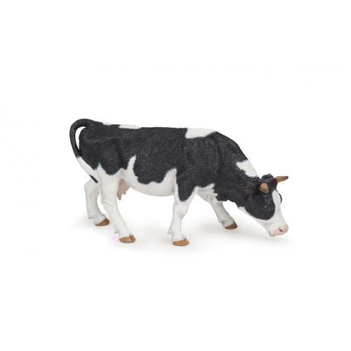 Vaca Preta e Branca a Pastar