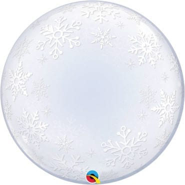 Balão Deco Bubble Flocos de Neve 24″