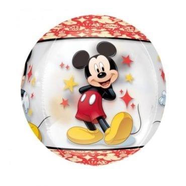 Balão Foil Orbz Clear Mickey Mouse