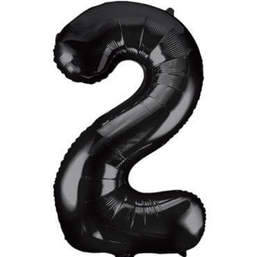 Balão Grande Número 2 Preto 34″