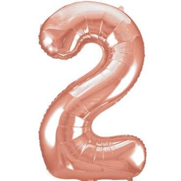 Balão Grande Número 2 Rose Gold 34″