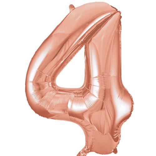 Balão Grande Número 4 Rose Gold 34″