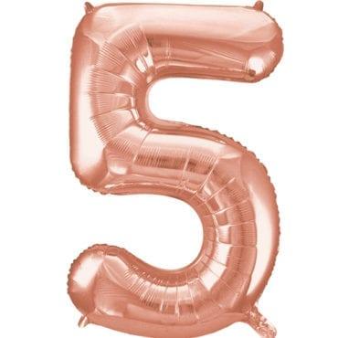 Balão Grande Número 5 Rose Gold 34″