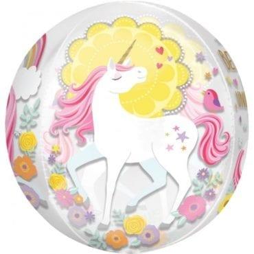 Balão Foil Orbz Unicórnio Magical