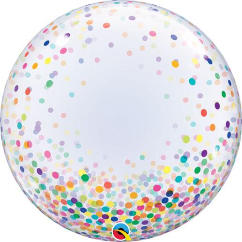 Balão Deco Bubble Confettis Multicolor 24″