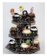 Base tripla para cupcakes Halloween