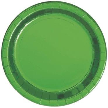Pratos Verde Metalizado