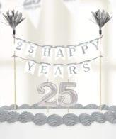 Decoração para bolo de Bodas de Prata