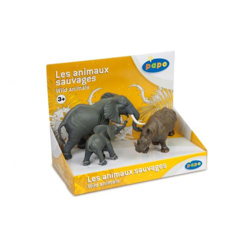 Display Animais Selvagens 3 (3 fig.)