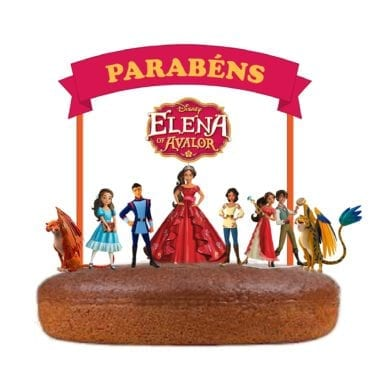 Topo de bolo Elena de Avalor