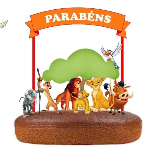 Topo de bolo Guarda Leão