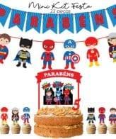 Mini Kit Festa Super Heróis