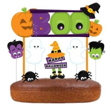 Topo de bolo Happy Halloween