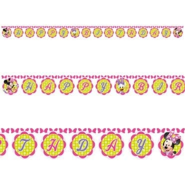 Banner Happy Birthday Minnie Bowtique