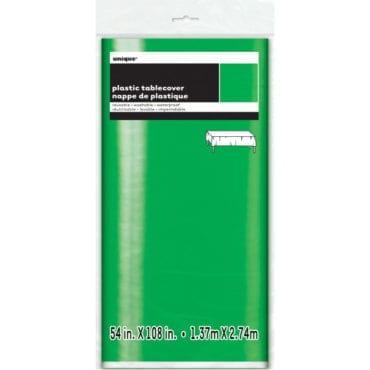 Toalha de Plástico Verde Metalizado