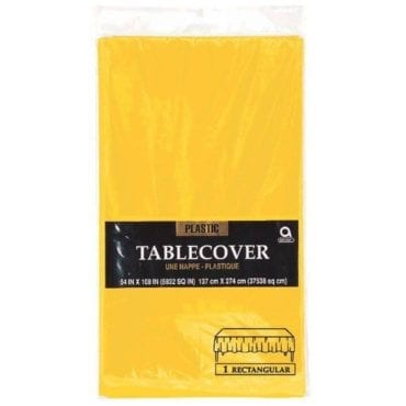 Toalha de Plástico Amarela