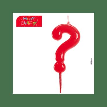 Vela Ponto de Interrogação em vermelho