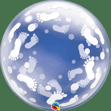 Balão Deco Bubble Pegadas de Bebé
