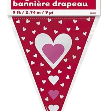 Banner de bandeirolas com Corações