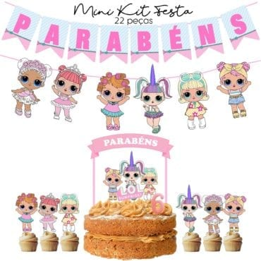 Mini Kit Festa LOL Pastel