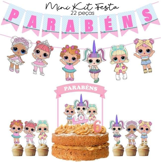 Mini Kit Festa LOL Pastel