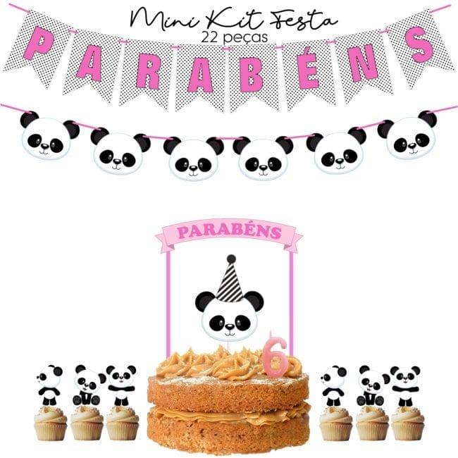 Mini Kit Festa Panda Rosa