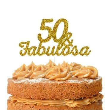 Topo de bolo topo50 & Fabulosa dourado