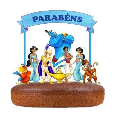 Topo de bolo Aladino