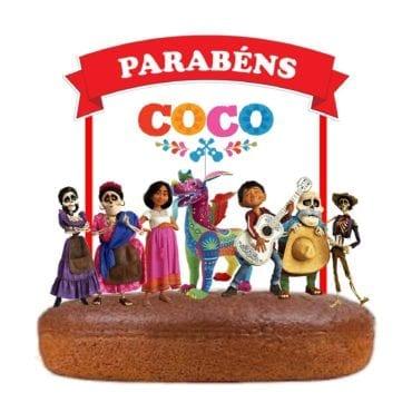 Topo de bolo COCO