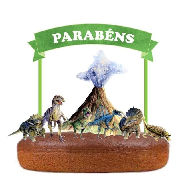 Topo de bolo Dinossauros