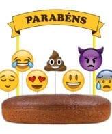 Topo de bolo Emojis