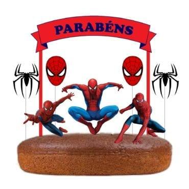 Topo de bolo Homem Aranha