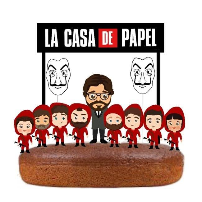 Topo de bolo La Casa De Papel