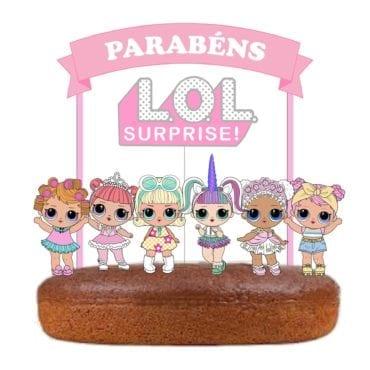 Topo de bolo das LOL pastel