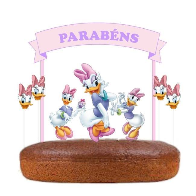 Topo de bolo Margarida
