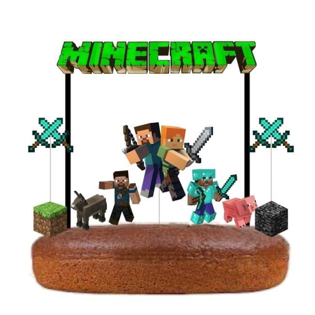 Topo de bolo Minecraft