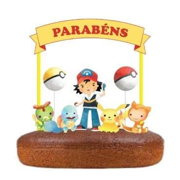 Topo de bolo Pokemon