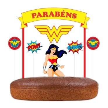 Topo de bolo Wonder Woman
