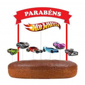 Topo de bolo Hotwheels