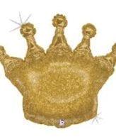 """Balão Coroa Holográfico 36"""""""