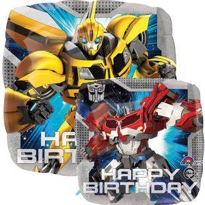 Balão Foil  Happy Birthday Transformers