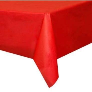Toalha Plástica 137 x 274cm Vermelho