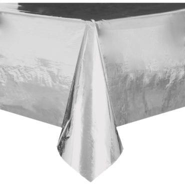 Toalha de Plástico Prateado Metalizado