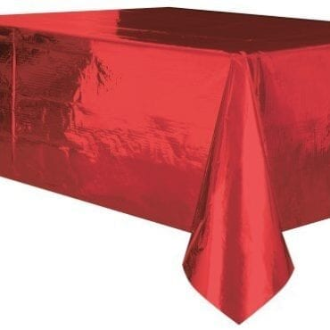 Toalha de Plástico Vermelho Metalizado