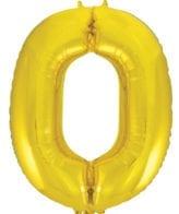 Balão Grande Número 0 Dourado 34″