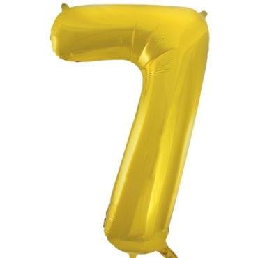 Balão Grande Número 7 Dourado 34″