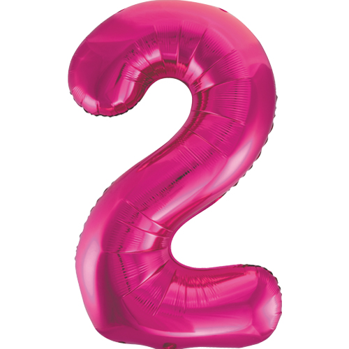 Balão Grande Número 2 Rosa Choque 34″
